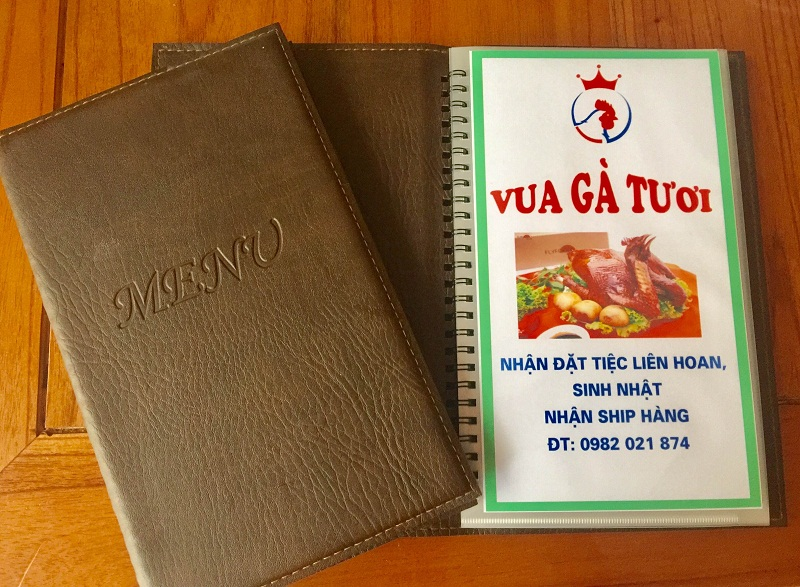 in menu thuc don